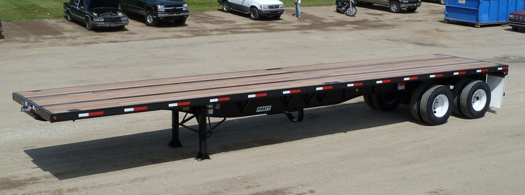 Flat-bed-trailer
